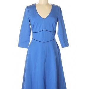 Boden Fit-n-flare Cornflower Blue Dress
